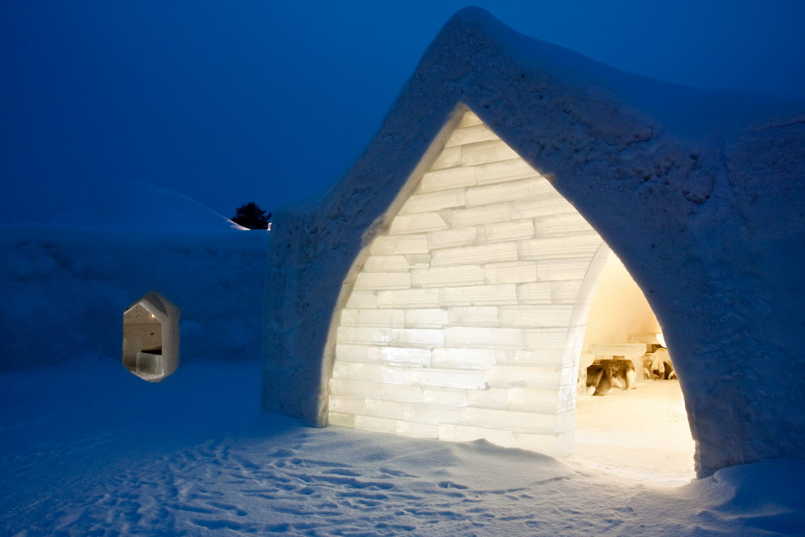 Hotel Eingang Arctic SnowHotel